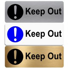 Keep Out-WITH IMAGE-Aluminium Metal Sign-Door,Notice,Shop,Office,Secure